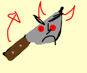 Knife is evil