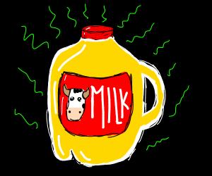 rotten milk