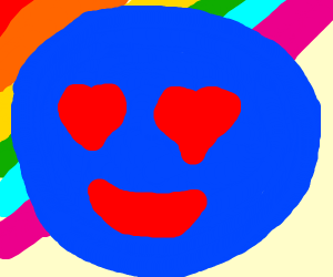 gay blue circle has a crush