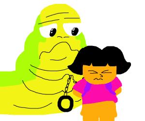 Jabba the hut handcuffed dora