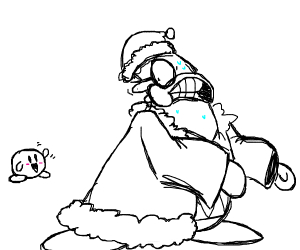 King Dedede scared of Kirby
