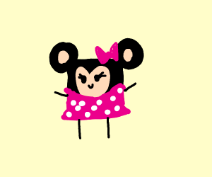 Square Minnie Mouse