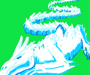 Blue Long Ice Dragon
