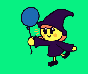 cute mage with a balloon