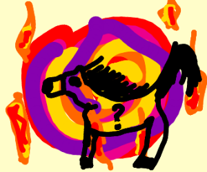 Rainbow fire swirl
