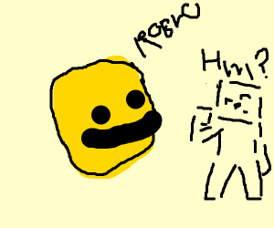 Invisible Minecraft person listening to roblo