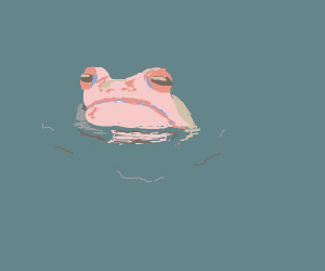 Frog in pastel colors