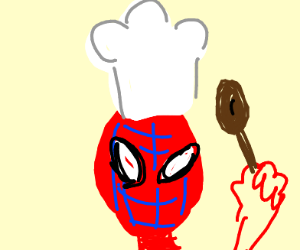 Spiderman becomes a chef