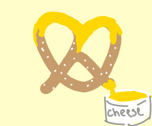 Cheesy pretzel