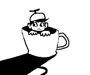 Boy in a mug