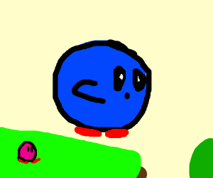 blue, flying kirby