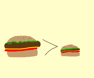 Hamburger and mini hamburger