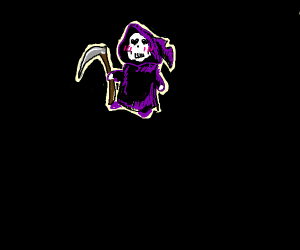 The grim reaper, but cute