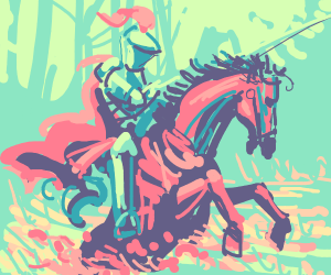 Detailed knight on a horse