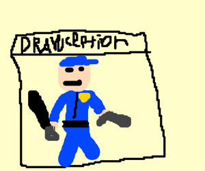 Police Officer in a Drawception panel
