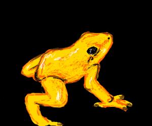 realistic yellow frog