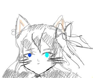 Catgirl with heterochromia