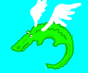 Alligator With Wings