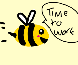 Bee going of to work