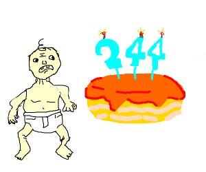 Baby's 244th birthday cake