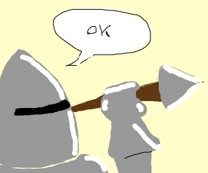 Knight says its ok to throw spears