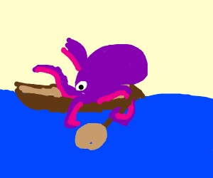 Octopus on a Boat
