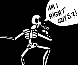 Stand up comic Sans - Drawception