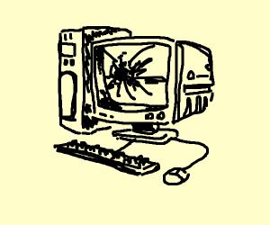 broken old computer