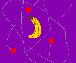 An atom but with bananas