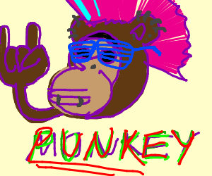Punk-rock monkey