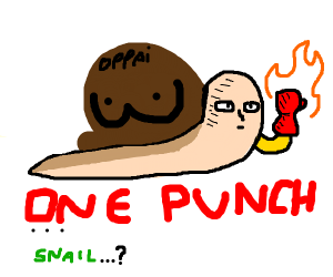 one punch man becomes a snail