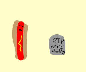 Hot dog honoring a deceased wife