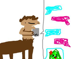 Centaur texting