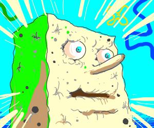 A dying spongebob