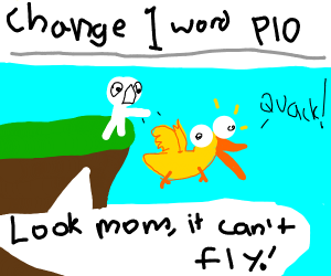 Look mom I can't fly (Change 1 word PIO)