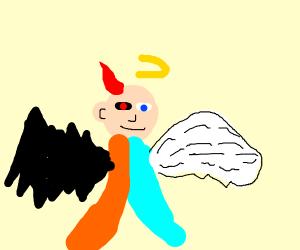 a demonic angel, an angelic demon