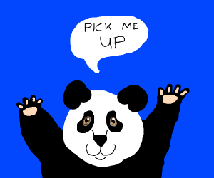 Panda wants to be picked up