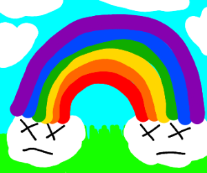 Painting a Rainbow around Dead Clouds