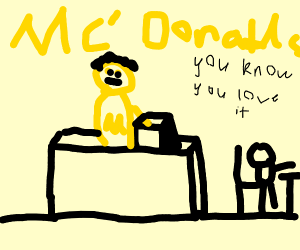 yellow dude is a new employee