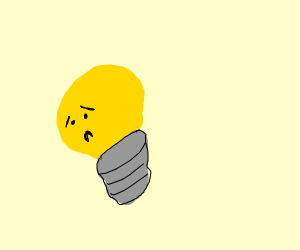 Sad light bulb