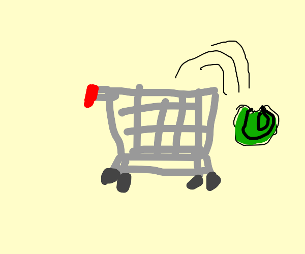 Cabbage spills from cart