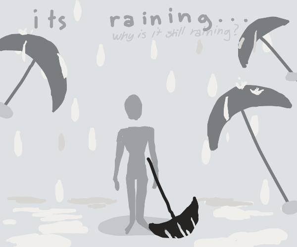 Some umbrellas
