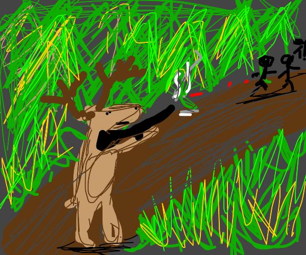 Deer shooting humans