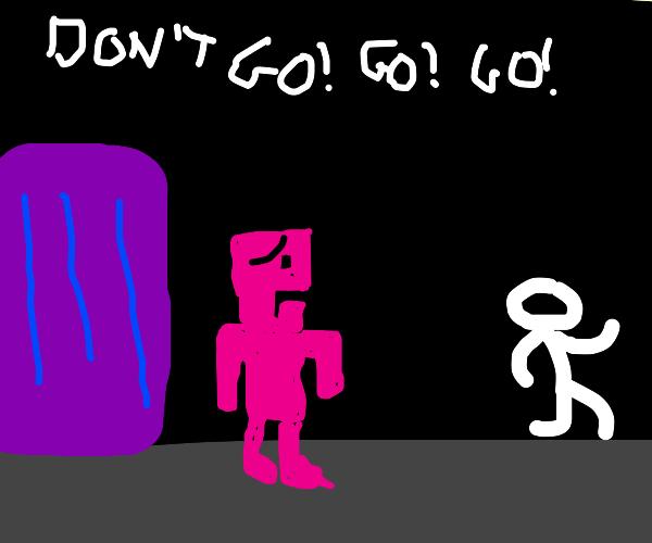 Frank left Pink guy