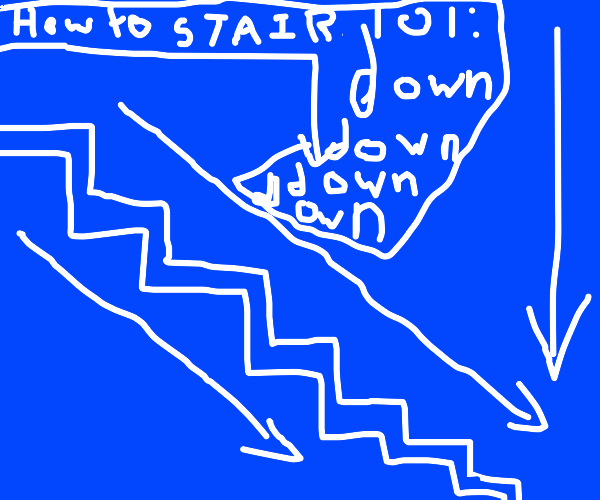 5 star blueprint of stairs