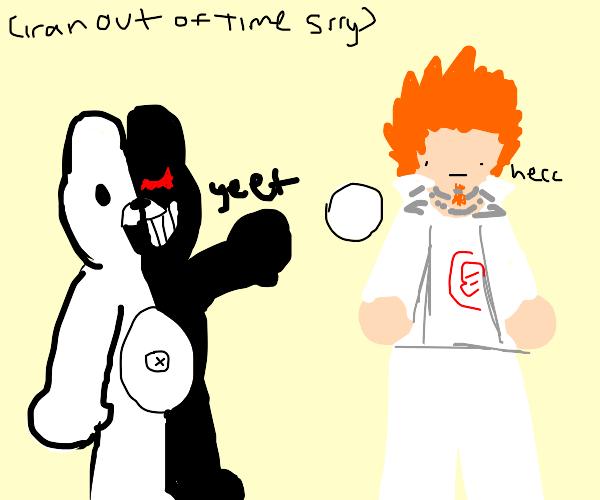 Furry throws baseball at anime character