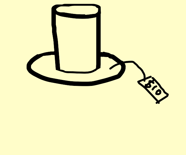 A giant top hat is for sale