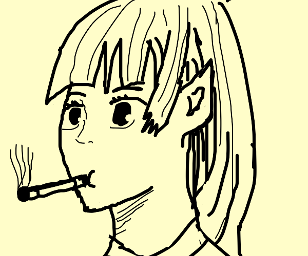elf smoking