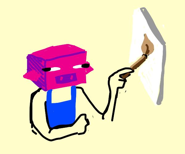 "Minecraft ""Pig-asso"" painter"