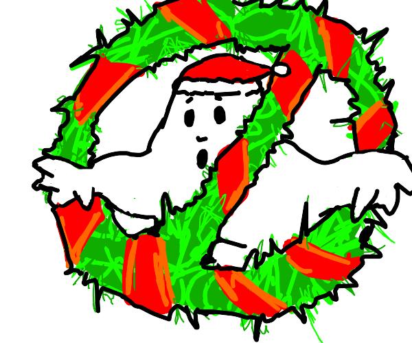 Christmas ghost Buster logo